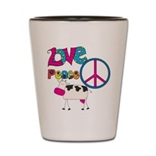 Love Peace Cows Shot Glass