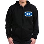 Uddingston Scotland Zip Hoodie (dark)