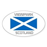 Viewpark Scotland Sticker (Oval)
