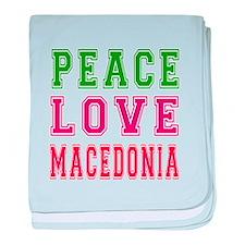 Peace Love Macedonia baby blanket