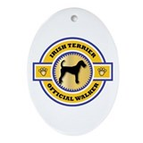 Terrier Walker Oval Ornament