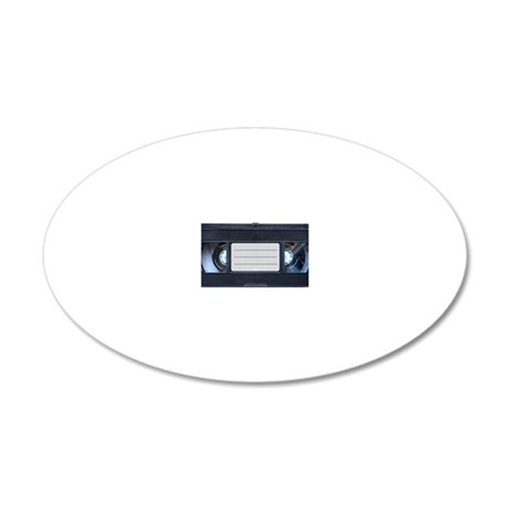 Retro VHS Tape 20x12 Oval Wall Decal