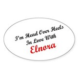 In Love with Elnora Oval Decal