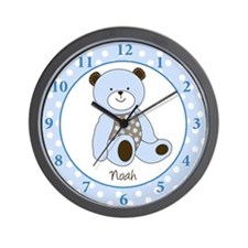 Sugar Teddy Bear Clock - Noah Wall Clock