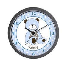 Sugar Cookie Teddy Bear Wall Clock