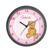 Dream Teddy Pink Clock - Siena