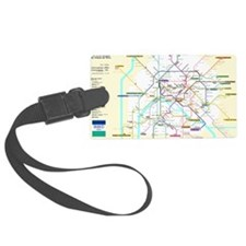 Paris Metro Map Luggage Tag