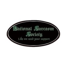 National Sarcasm Society Patches