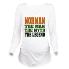 Norman The Legend Long Sleeve Maternity T-Shirt