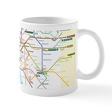 Paris Metro Map Small Mugs
