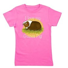 I Love my Guinea Pig Girl's Tee