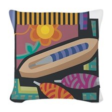 Weaving Woven Throw Pillow