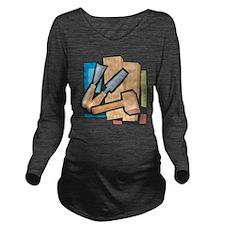 Carving Long Sleeve Maternity T-Shirt