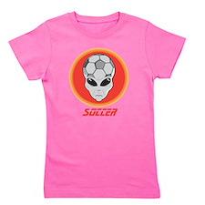 Alien Soccer Head Girl's Tee
