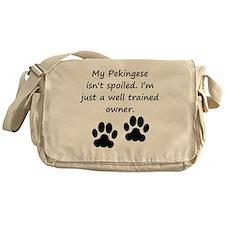 Well Trained Pekingese Owner Messenger Bag