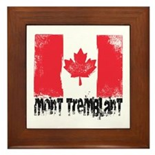 Mont-Tremblant Grunge Flag Framed Tile