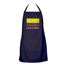 Colombia Flag Apron (dark)