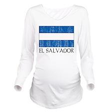El Salvador Flag Long Sleeve Maternity T-Shirt
