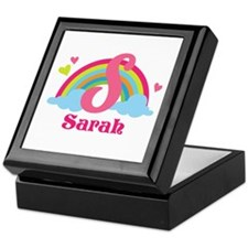 Personalized S Monogram Keepsake Box