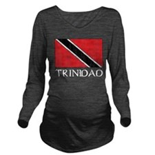 Trinidad Flag Long Sleeve Maternity T-Shirt
