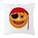 Pirate Smilie Woven Throw Pillow