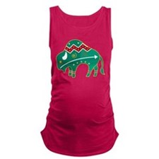 Indian Spirit Buffalo Maternity Tank Top