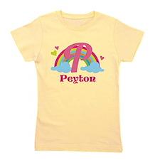 Personalized P Monogram Girl's Tee