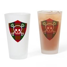 Robertson Tartan Skull And Bones Shield Drinking G