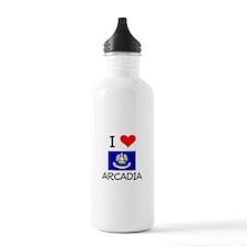 I Love ARCADIA Louisiana Water Bottle