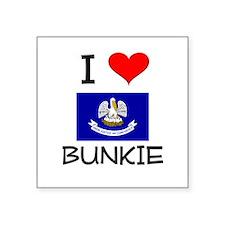 I Love BUNKIE Louisiana Sticker