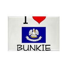 I Love BUNKIE Louisiana Magnets