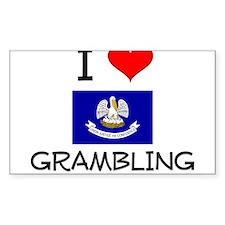 I Love GRAMBLING Louisiana Decal