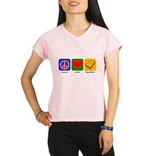 Peace Love Reading Performance Dry T-Shirt