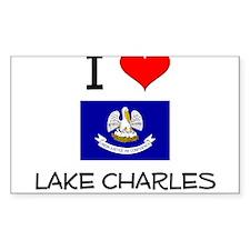 I Love LAKE CHARLES Louisiana Decal
