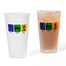 Eat Sleep Hike Drinking Glass