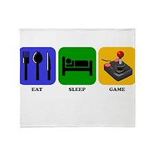 Eat Sleep Game Throw Blanket