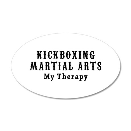 Kickboxing Martial Art My Therapy 35x21 Oval Wall