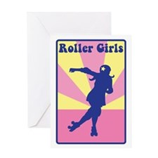 Roller Girls Greeting Cards