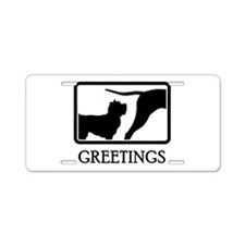 Cairn Terrier Aluminum License Plate