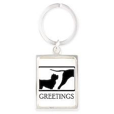 Cairn Terrier Portrait Keychain