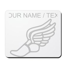 Custom Silver Winged Running Shoe Mousepad