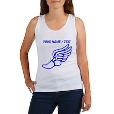 Custom Blue Winged Running Shoe Tank Top