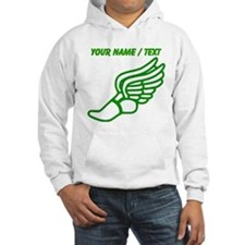 Custom Green Winged Running Shoe Jumper Hoody