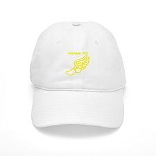 Custom Yellow Winged Running Shoe Baseball Cap