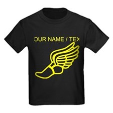 Custom Yellow Winged Running Shoe T-Shirt