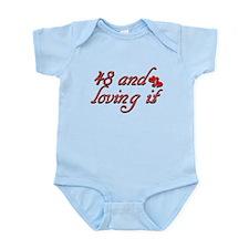 48 and loving it designs Infant Bodysuit