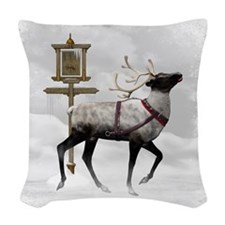 North Pole 2 Woven Throw Pillow