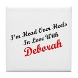 In Love with Deborah Tile Coaster