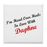 In Love with Daphne Tile Coaster