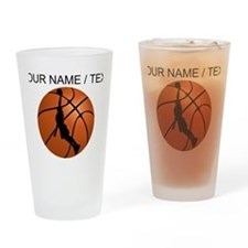 Custom Basketball Dunk Silhouette Drinking Glass
